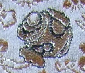 西陣金襴宝尽くし紋様 打ち出の小槌