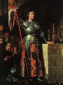 ドミニク・アングル『シャルル7世の戴冠 式におけるジャンヌ・ダルク』