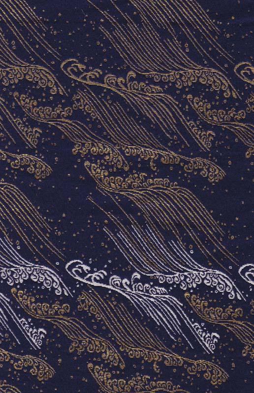 西陣織 金襴 正絹 荒磯
