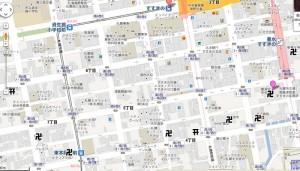 すすきの 神社仏閣地図