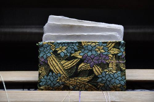 西陣金襴 紫陽花名刺入れ
