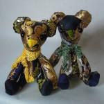 西陣織 金襴 正絹 でテディベア yellow