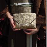 西陣織 金襴 正絹 菱繋ぎ 数奇屋袋