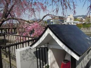 京都三条大橋たもと地蔵 弥次喜多像