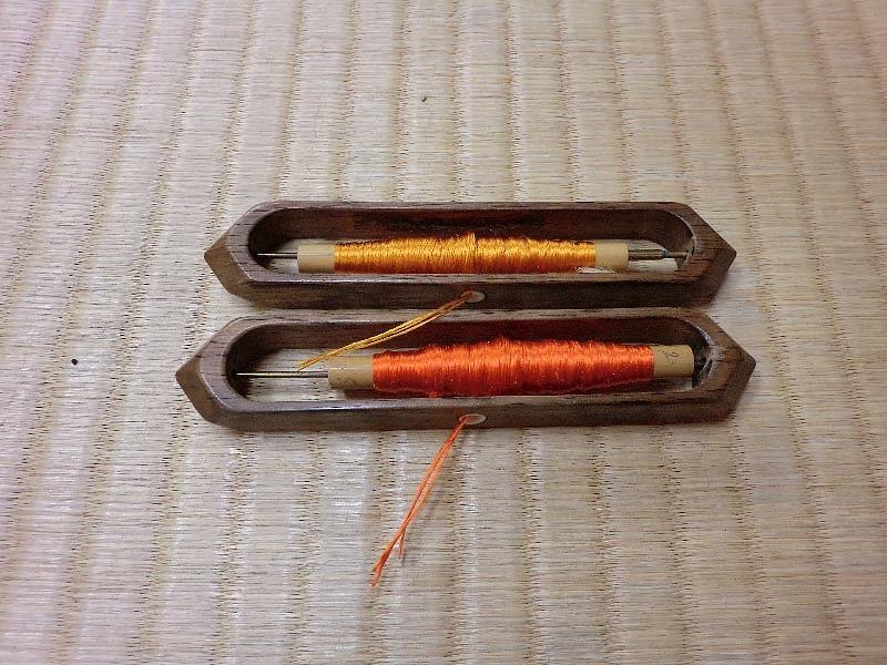 織屋の仕事 緯糸 管