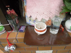 両替町 夷川上る鉤針編みが可愛いお地蔵さん