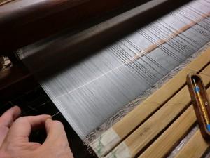 西陣織 箔を引く道具、へら