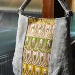 西陣織 金襴 正絹 羽重ね紋様 バッグ