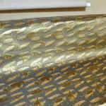 西陣織 金襴 正絹 利休茶地 グリンサビ箔
