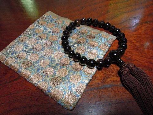 西陣金襴紫陽花紋様 数珠袋