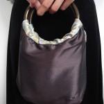 西陣織 全正絹 金襴 羽重ねバッグ