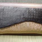 ファーと 西陣織 金襴 ケルト紋様 ポーチ