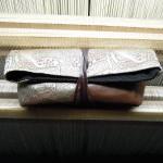西陣金襴アフリカ紋様 ポーチC
