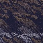 西陣織 金襴 荒磯