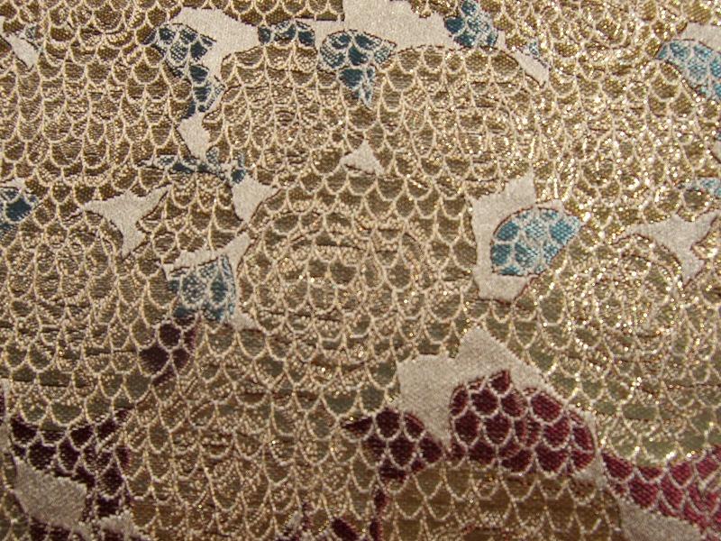西陣織 金襴 バラに青海波