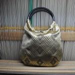 西陣織 金襴 菱つなぎ紋様 リバーシブルバッグ