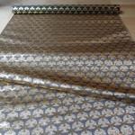 全正絹 西陣織 金襴  独楽繋ぎ紋様