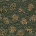 西陣織 金襴 唐花に蜻蛉蝶