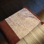 西陣織 金襴 正絹 &本革 巾着
