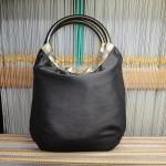 西陣織 金襴 独楽繋ぎ紋様 リバーシブルバッグ