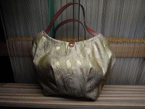 西陣金襴アフリカ紋様バッグ