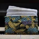 西陣織 金襴 紫陽花名刺入れ