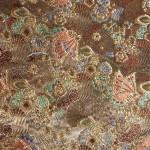 西陣織 金襴 蝶扇花