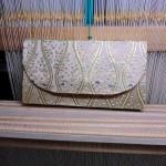 西陣織 金襴 立枠紋様 ポーチ