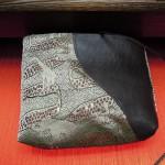 全正絹 西陣織 金襴アフリカ紋様 ポーチB