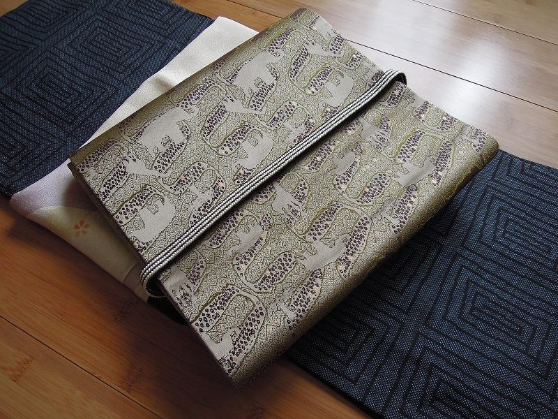 西陣織 金襴 正絹 アフリカ 帯
