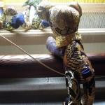 西陣織 金襴 teddybear blue
