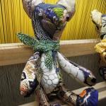 西陣織 金襴 teddybear green