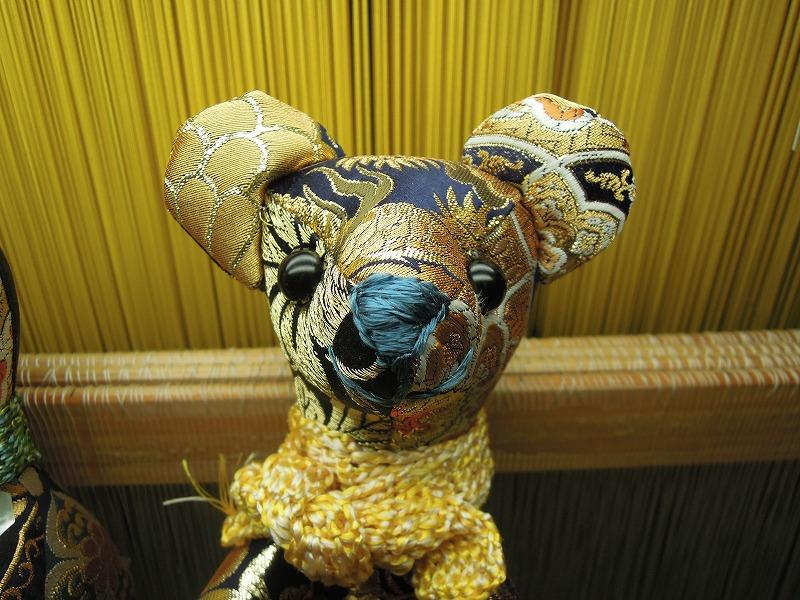 西陣金襴 teddybear blue