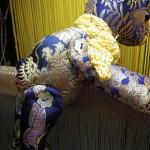西陣織 金襴 teddybear yellow