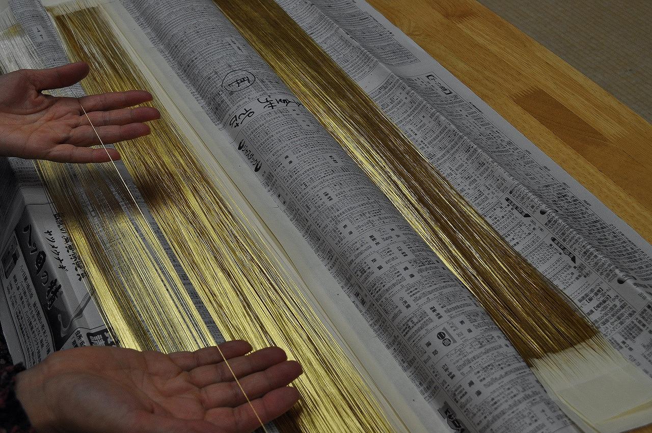 金沢産本金漆和紙箔糸