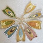 羽のピアス~西陣金襴羽重ね紋様使用