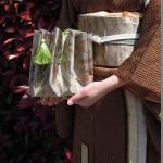 西陣金襴正絹アフリカ紋様 丸の巾着
