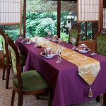 西陣金襴正絹 散雲丸龍テーブルランナー