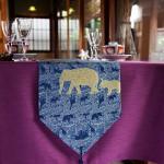 西陣織 金襴 正絹 アフリカ紋様テーブルランナー