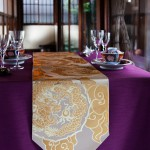 西陣織 金襴 正絹 散雲丸龍テーブルランナー
