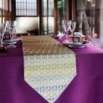 西陣織 金襴 正絹 羽重紋様テーブルランナー