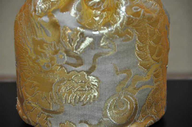 全正絹金襴散雲丸竜紋様 仕覆
