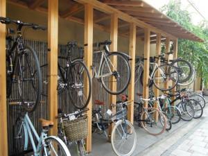 「SOU・SOU」自転車置き場