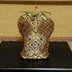 西陣織 金襴 正絹 の仕覆  三階菱唐花紋様
