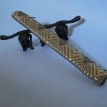 西陣織 金襴 正絹 菱つなぎ紋様使用 扇子入れ