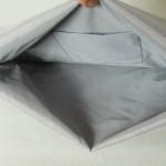 西陣織 金襴 正絹 紺地亀甲丸龍 二つ折りクラッチバッグ ポケット