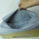 西陣織 金襴 正絹 朱地亀甲丸龍 二つ折りクラッチバッグ ポケット