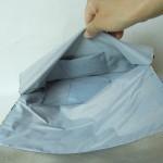 西陣織 金襴 正絹 紺地散雲丸龍 二つ折りクラッチバッグ ポケット