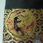 西陣織 金襴 正絹 紺地亀甲丸龍 二つ折りクラッチバッグ西陣織 金襴 正絹