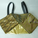 西陣織 金襴 正絹 アフリカ紋様 おじゃみバッグ